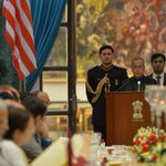Pictures from banquet hosted by #PresidentMukherjee in honour of @BarackObama in Rashtrapati Bhavan yesterday -8 http://t.co/rBbL3dNMu2