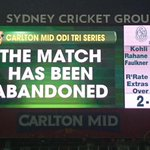 Decision made! The #AustraliaDay match has officially been called off! Australia remain undefeated. #AUSvIND #WWOS http://t.co/W4FaAdS8AO