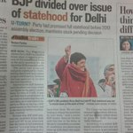 BJP needs to clarify stand on full statehood for Delhi. Is this why @thekiranbedi is running away from a debate? http://t.co/IelJrJCMZk