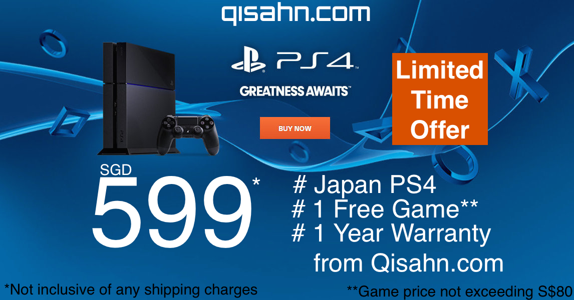 Still sitting on a fence when it comes to PS4 ownership? This CNY offer is not to be missed: http://t.co/Pz9doJGu2D http://t.co/dawV09xzNZ