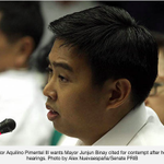BREAKING: Senate orders arrest of Mayor Junjun Binay, 6 others for contempt http://t.co/996r16bR7e http://t.co/Ry3w9xbreo