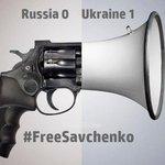 Russia uses the Gun, we use Democracy: Russia 0 Ukraine 1 #FreeSavchenko http://t.co/jugNdKSKyz