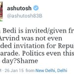 Why a KAALA aadmi crying on behalf of an AAM Aadmi for demanding VVIP treatment ? #RepublicDay http://t.co/Efb81m9dez