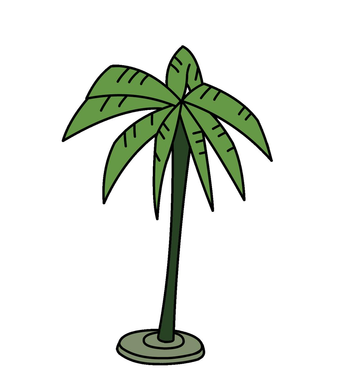 聖剣使いの禁呪詠唱 第二話で登場した「そのためのヤシの木」ことすっげぇ雑なヤシの木の素材ですご自由にお使いください
