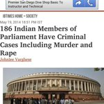 Almost half of the Indian parliament has rapists! Be a #ProudIndian for this on your #RapePublicDay http://t.co/WbgLQ7vZsy
