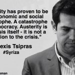 """Rejected the BANKERS"" Solidarity greetings to the Greek people for voting against Austerity #Syriza http://t.co/Y8PTBP77Ay"
