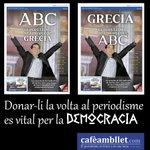 Con la portada del ABC hemos hecho esto... Però con La Razón no ha habido manera. Es introleable ;-) #Grecia2015 http://t.co/AmT2q5REVS