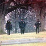 HAPPENING NOW: #SecretService agents combing #WhiteHouse north lawn after drone was found on the premises overnight. http://t.co/QeN8g3mz2h