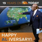 Hey, @alroker! Did you know that it's your TODAY anniversary? 19 years! #Aliversary http://t.co/XrBFGmBujs