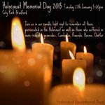"Candle light vigil 5pm this eve marking Holocaust Memorial Day in City Park #HMD2015 http://t.co/l96suBATtw""@riaz_inAcity"
