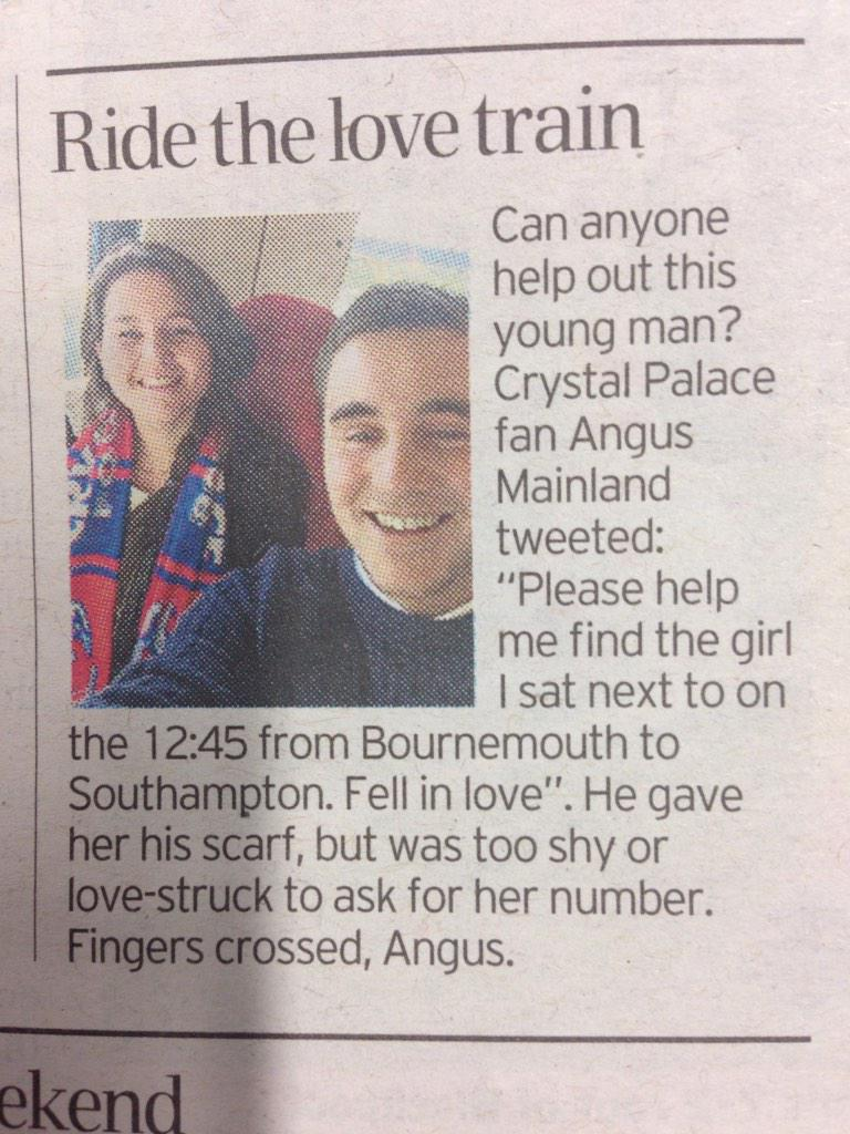 His Twitter name is @Angus66Mainland. This, in @TelegraphSport today is sweet. So please RT! http://t.co/0DMVC6CDEY