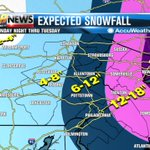 Is it snowing in your area? Depending on how the storm tracks, you could expect close to a foot of snow or more. http://t.co/b2s2pcNRpX