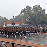 The Women Officers contingent passes through the Rajpath during the 66th #RepublicDay2015 Parade, in New Delhi. http://t.co/8sI3s2oLoq