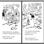 RT @vrindaprasad: RK Laxman, one of India's eminent cartoonists, passed away. Here's Some of his work... RIP... :-(