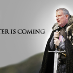 Bring it on. On second thought... @BilldeBlasio @GameOfThrones #blizzardof2015 http://t.co/BtX3DrM7VM