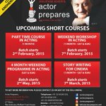 RT @actorprepares: #DREAM - #TRAIN - #PERFORM in these upcoming short courses at #ActorPrepares http://t.co/ScSTujMHX6