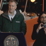 On the bright side, @BilldeBlasios sign language interpreter is back. #Snowmageddon2015 #blizzardof2015 http://t.co/oMNRNyCWwa