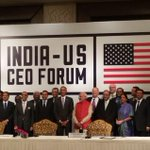 India-US leaders now at CEO Forum. http://t.co/8eUQAQYeEm