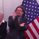 De Blasios sign language interpreters facial expressions properly represent my feelings about this snow storm. http://t.co/d11ePyOmNE