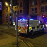 Somethings happening in Newton Street - cordoned off at both ends by police. #Manchester http://t.co/kaRv6D60dp