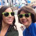 Seahawks fans in Phoenix, were looking for you! @LoriMatsukawa & I have lots of #twelfie shades to hand out! #sb49 http://t.co/XRWWn1rzLx