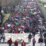 En México se realizó una marcha por los 43 estudiantes desaparecidos, piden justicia a las autoridades. Fotos @CNNMex http://t.co/2tI4uCZ8FW