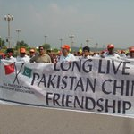 Pakistani and Chinese people show solidarity with pak China friendship #LongLivePakChinaFriendship http://t.co/CE9QGbaqXc""
