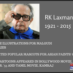 The Mysore born, headmasters child, youngest of the six sons, the cartoonist, illustrator and humorist - RK Laxman http://t.co/QsIZbmxP8R