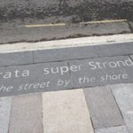 I love the snippets of history in the new paths outside the station #Southampton http://t.co/yle1s6NXXa
