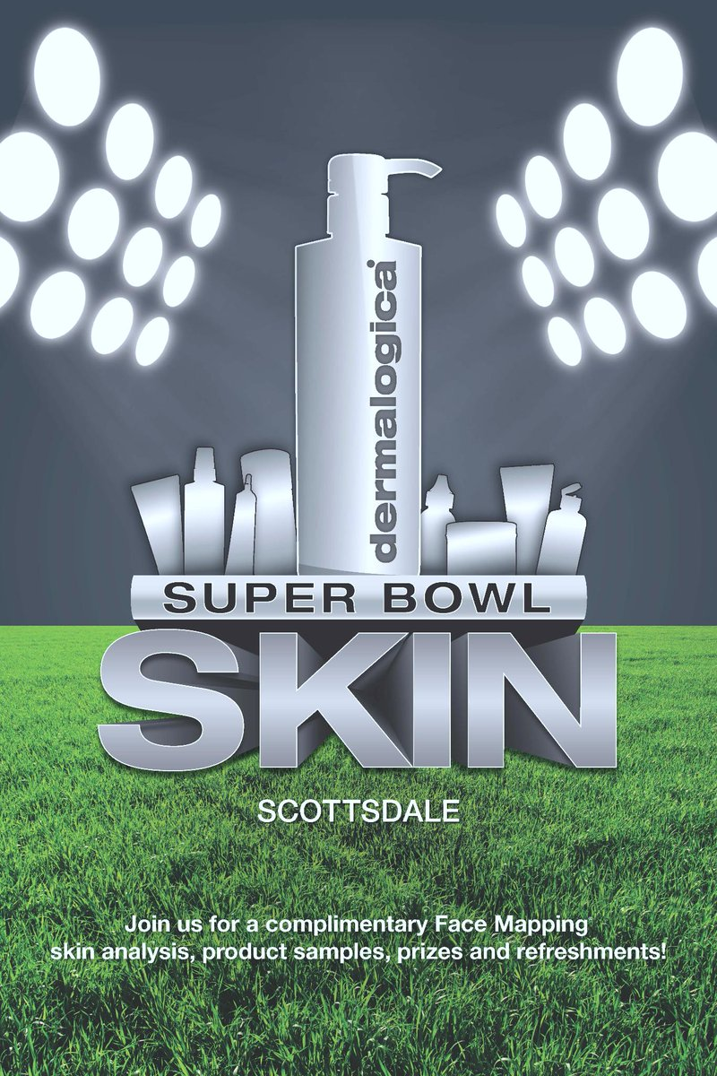 #SuperBowl Skin weekend at @dermalogica #Scottsdale Thurs-Sat! Free face mapping, GWP + MORE! http://t.co/JSEzp72Jrd http://t.co/Ppc73ibG3t