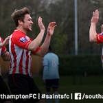 PHOTO: @Ryan_Seager and @JasonMcCarthy32 congratulate @DomGape on his goal for #SaintsFCU21s against @whufc_official. http://t.co/Ciw56RrHpa