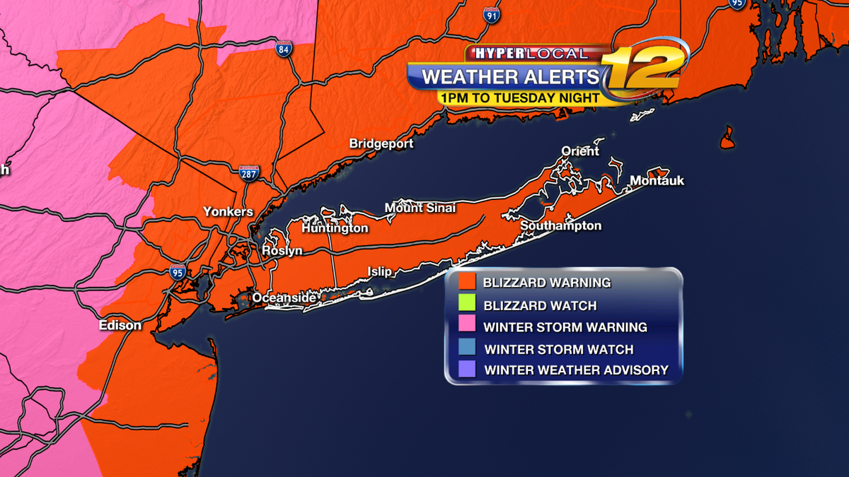 """#BLIZZARD2015 worst of storm 1am to 10am Tuesday - Snow 2-4"""" per hour and wind gusts 40-60mph. Coastal Flooding. http://t.co/qW220rQ7B2"""