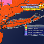 "#BLIZZARD2015 worst of storm 1am to 10am Tuesday - Snow 2-4"" per hour and wind gusts 40-60mph. Coastal Flooding. http://t.co/qW220rQ7B2"