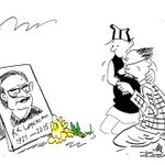 Touching tribute from one cartoonist to another. Rajesh KCs @phalano grieves with RK Laxmans Common Man http://t.co/KvwYAe3Xrg