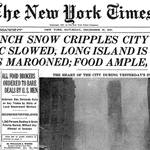 """Record 25-inch Snow Cripples City"" reports NYT in #blizzardof1947 front page http://t.co/yFW7XYlrvy #blizzardof2015 http://t.co/yCs5zxFFkv"