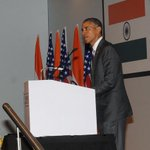 US President Mr. @BarackObama addressing at the India-U.S. Business Summit in New Delhi http://t.co/dQ3VPkEWtG