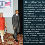 PM @narendramodi elaborates on the strength of India-US partnership at the India-US Business Summit http://t.co/yUcGjJHSND