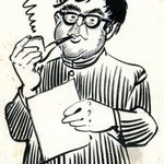 Identify the Gentleman in this picture? RK Laxman: 1921 - 2015. http://t.co/qBngAGhXcn