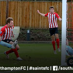PHOTO: @Ryan_Seager scores his 11th goal of the season to seal #SaintsFCU21s 2-0 win against @whufc_official. http://t.co/5oCr9jyjkx