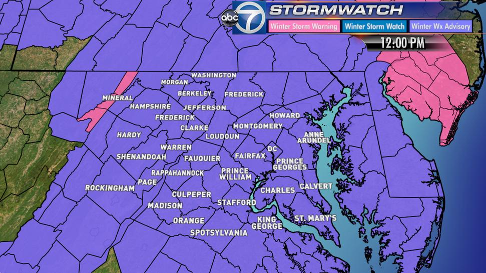 Lauryn Ricketts (@laurynricketts): Winter Storm Warning now downgraded to a Winter Weather Advisory @wtop @ABC7News http://t.co/ngHjS8LuPU
