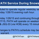Planned #PATHTrain Service During #BlizzardOf2015. Follow @PATHTrain/@PATHAlerts for updates. http://t.co/iRWlb4S5o8