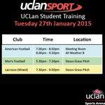 #UCLan Student Training TONIGHT @UCLanArena #UCLanSport ⚽️????⚽ @UCLan_Rams @UclanMensFC @UCLan_Wolves http://t.co/nIBidnIBA1