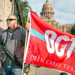 Gun rights activists rally at the Capitol for the open carry bill HB 195. #txlege @statesman http://t.co/IOvSZMLWJS