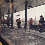 Crews are out making sure platforms are clear of snow! Heres a crew working at Massapequa Sta! #blizzardof2015 @MTA http://t.co/KOe1hCZ43M