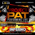 Tonight #GREENSBORO @ProjectPatHcp performing live @ inferno everybody free ALLNITE http://t.co/1CNoMsgFyV