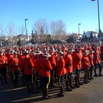 Burnaby SSM John Buis sent this photo of members mustering this morning in St. Albert for Cst. Wynns funeral. MG http://t.co/bU1fo77r4c