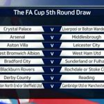 Heres the FA Cup fifth round draw in full. http://t.co/Zzej3TBBq7 (via @football_ie) #facup