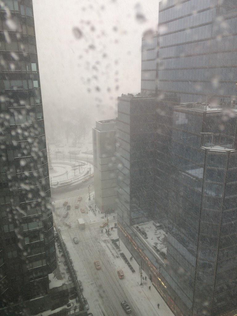 Yes folks, beyond the snow in this pic is Central Park. View from our #NYC HQ during day 1 of #Blizzard2015 stay warm http://t.co/80UvVUDYrs