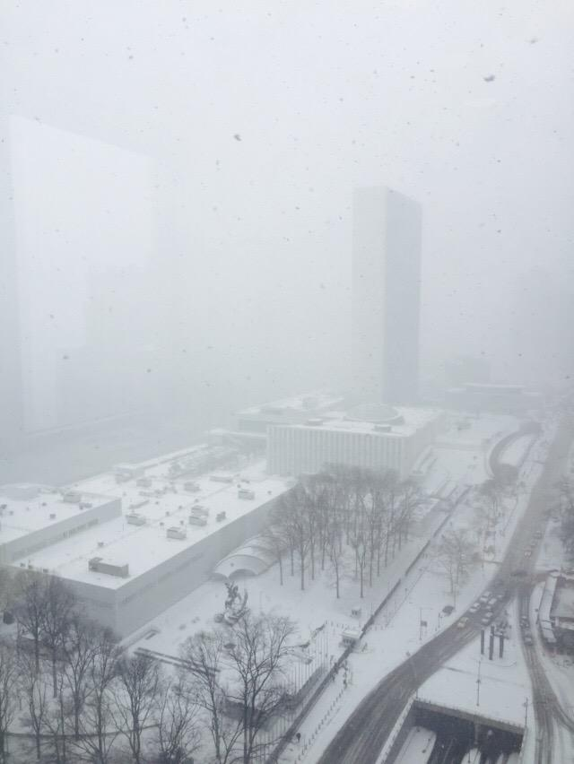 View of the @UN building from our mission. Wait, where's the UN building? #Snowmageddon2015 #NYCblizzard http://t.co/c8LP9MR7fE