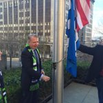 Proud to have the @Seahawks #12s flag flying over #Seattle City Hall this week. #GoHawks http://t.co/jdlbhu4nF7